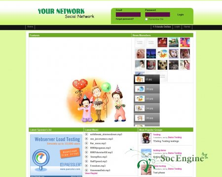Greeny Homepage для SE 3.18