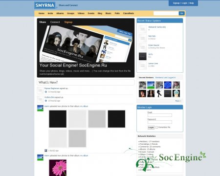 Smyrna Template Social Engine 3.18