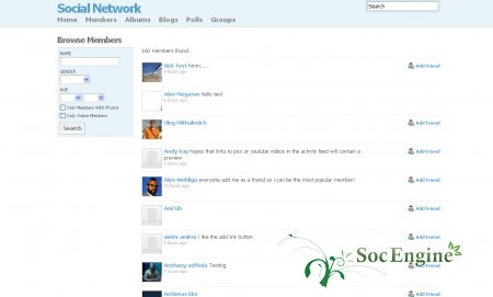 SocialEngine 4 ����� � ������