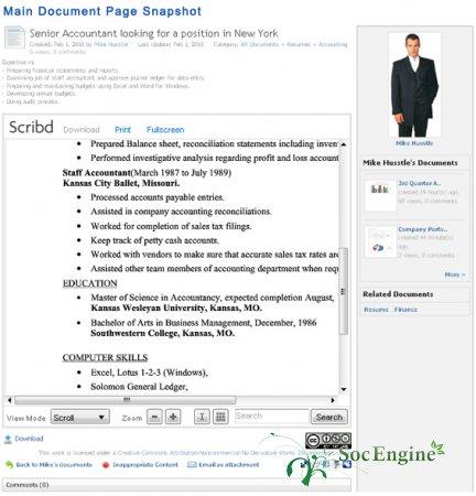 Documents / Scribd iPaper - Обмен Документами