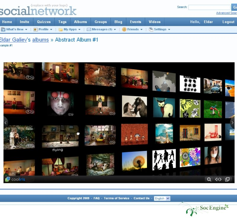 SocialEngine Cooliris plugin.