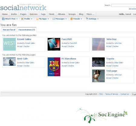 SocialEngine Fans Plugin