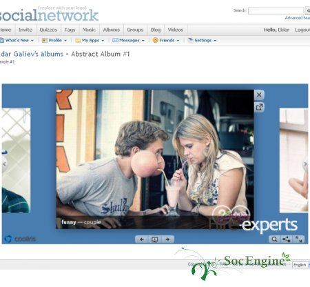 SocialEngine Cooliris plugin