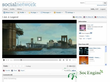 SocialEngine AVP Video Plugin
