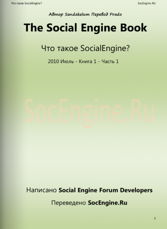The Social Engine Book - Что такое SocialEngine?