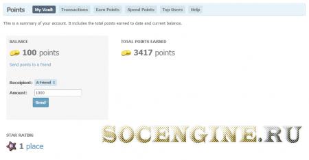 SocialEngine 4 Activity point + Activity Rewards plugin
