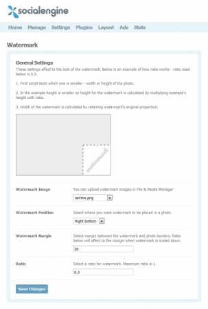 SocialEngine 4 Watermark Plugin