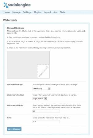 SocialEngine 4 Watermark Plugin