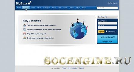 SocialEngine 4 Big Buzz Theme