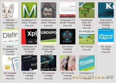 Все Шаблоны от Designers Paradise для SocialEngine 4