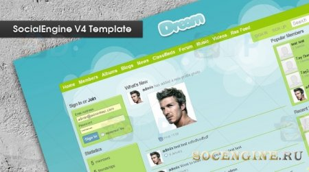 Socialengine V4 Dream Template