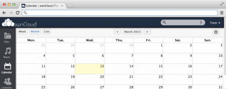 Календарь в ownCloud