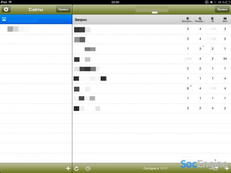 seo tool на iOS Ipad