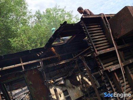 Железнодорожный вагон, до которого любители продажи метала, добрались спустя десятки лет