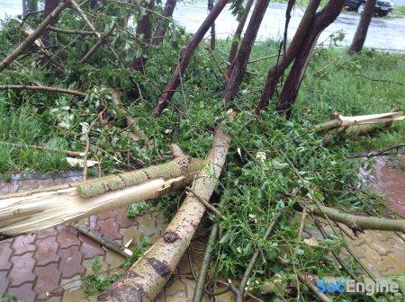 Фотографии города Южно-Сахалинск после прохождения циклона (урагана) 13.06.2014