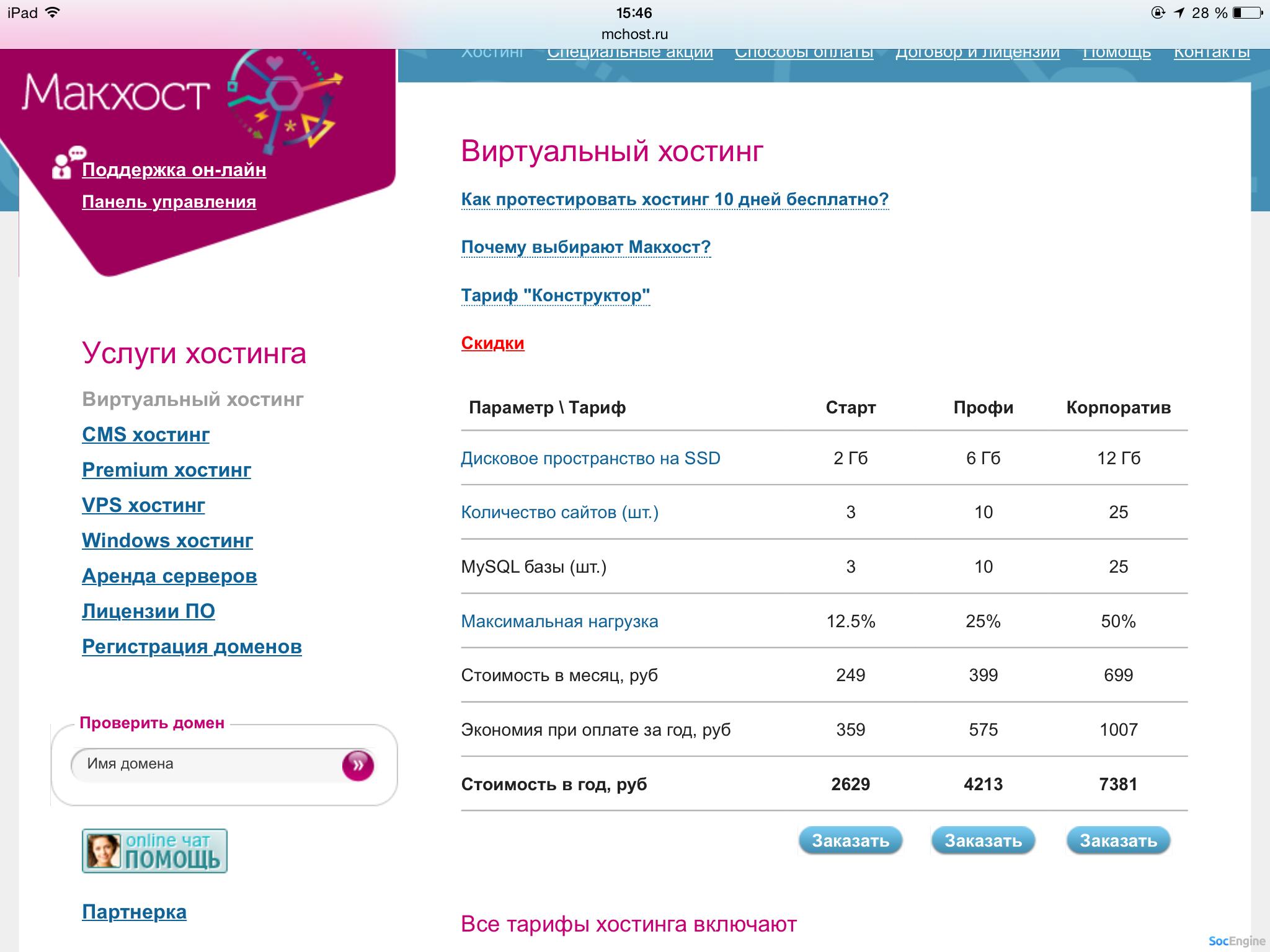 Цена на хостинге ru хостинг сайтов it компания