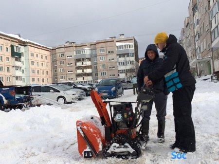 Готовились к зиме и купили снегоротор