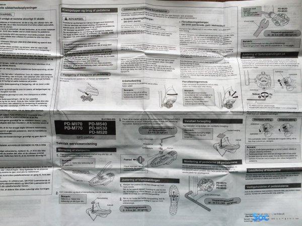 Инструкция использования контактных педалей Shimano