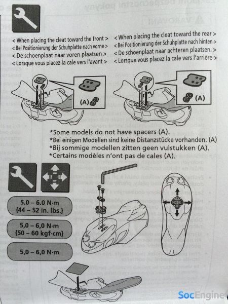 Инструкция установки шипа на Shimano MT34 MTB SPD